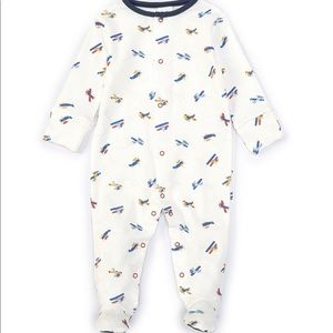 Baby Boys  Long-Sleeve Airplane Footed Coverall